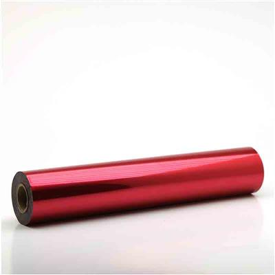 metallic foil red
