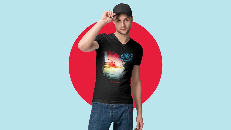 IColor560 BeachVibes T shirt Mockup